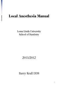 Local Anesthesia Manual